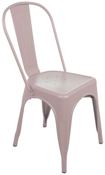 Silla de acero soho rosa ref 19157901 leroy merlin - Sillas escritorio juvenil leroy merlin ...