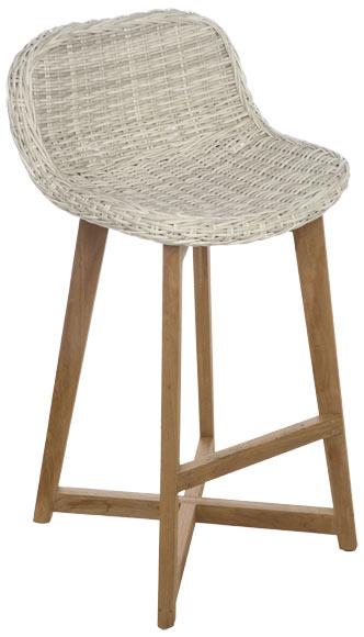 Silla alta de madera y resina noruega ref 19190115 - Sillas de resina ...