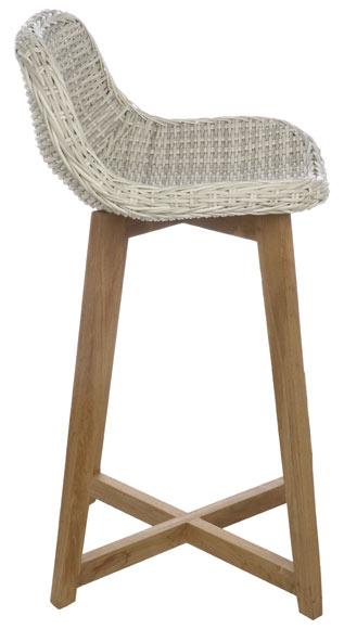 Silla alta de madera y resina NORUEGA Ref. 19190115 - Leroy Merlin
