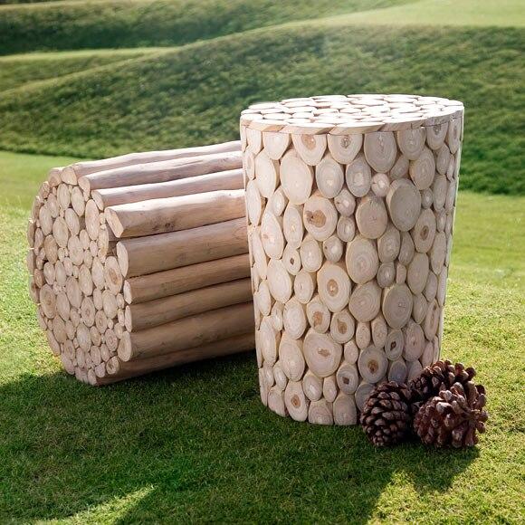 Taburete de madera de teca ogre ref 19202862 leroy merlin - Taburetes de madera leroy merlin ...