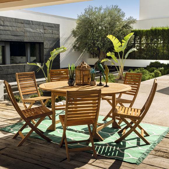silla de madera de acacia porto ref 19206992 leroy merlin. Black Bedroom Furniture Sets. Home Design Ideas