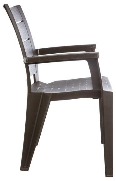 Silla de resina shaf legno marr n ref 19245282 leroy merlin for Sillas giratorias leroy merlin