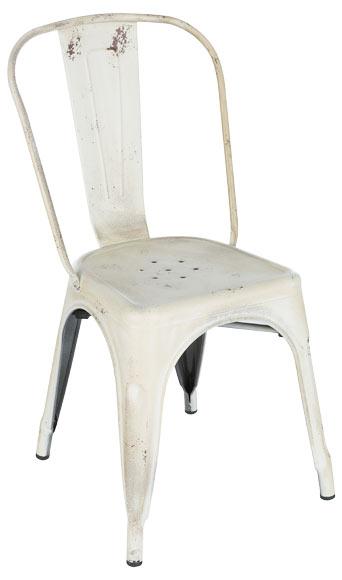 Silla de metal soho vintage blanco ref 81867471 leroy for Silla giratoria leroy merlin