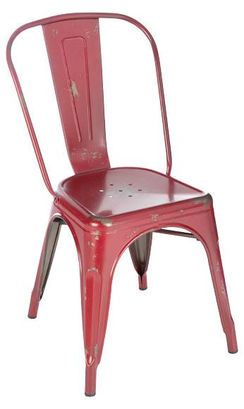 Silla de metal soho vintage rojo ref 81867472 leroy merlin for Silla giratoria leroy merlin