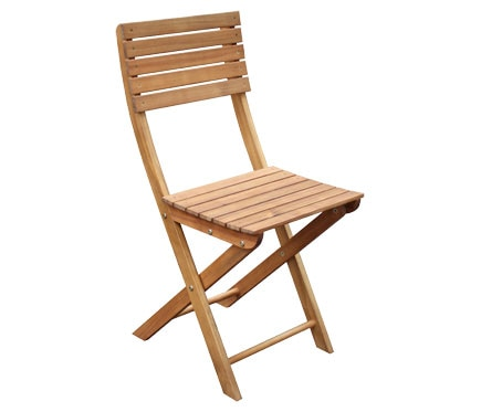 2 sillas plegables de madera de acacia PORTO Ref. 81873359 - Leroy ...