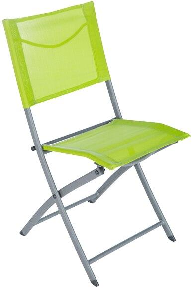 Silla plegable de metal denver verde ref 81873372 leroy - Sillas plegables leroy merlin ...