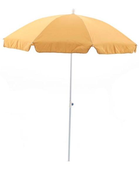 Parasol de aluminio con toldo de 200 cm camel ref for Parasol deporte inclinable leroy merlin