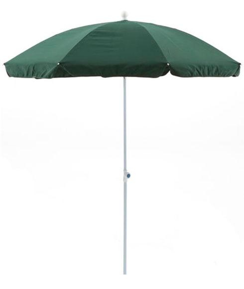 Parasol de aluminio con toldo de 200 cm verde ref for Parasol deporte inclinable leroy merlin