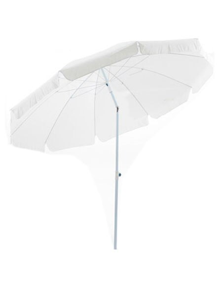 Parasol de aluminio con toldo de 250 cm blanco ref for Parasol deporte rectangulaire leroy merlin