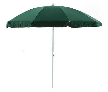 Parasol de aluminio con toldo de 250 cm verde ref for Parasol deporte rectangulaire leroy merlin