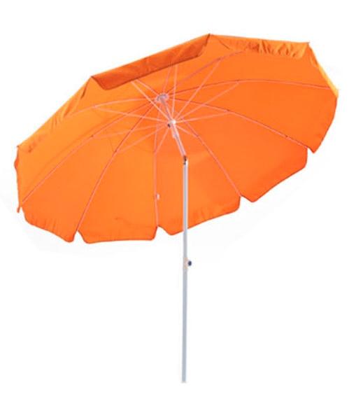 Parasol de aluminio con toldo de 250 cm naranja ref for Parasol deporte inclinable leroy merlin