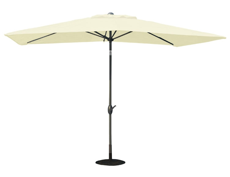 parasol de acero con toldo de 200 x 300 cm crudo ref. Black Bedroom Furniture Sets. Home Design Ideas