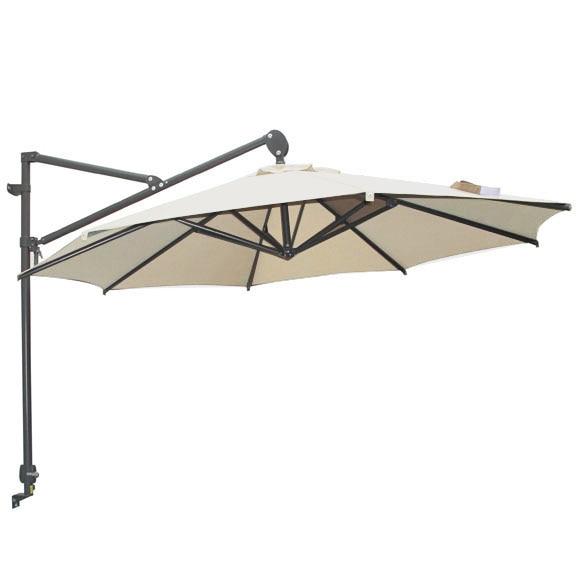 Parasol exc ntrico de acero con toldo de 300 cm pared for Parasol deporte rectangulaire leroy merlin