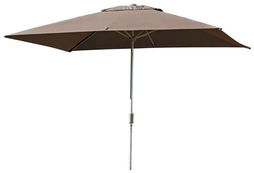 parasol de acero con toldo de 200 x 300 cm chocolate ref 15285256 leroy merlin. Black Bedroom Furniture Sets. Home Design Ideas