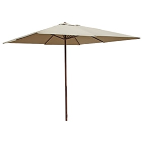 Parasoles sombrillas de playa parasol de aluminio para for Parasol deporte inclinable leroy merlin