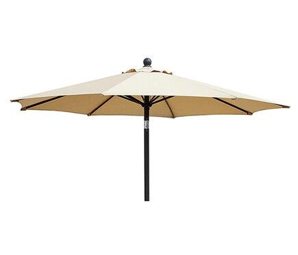 Parasol de aluminio con toldo de 270 cm beige ref for Parasol deporte rectangulaire leroy merlin