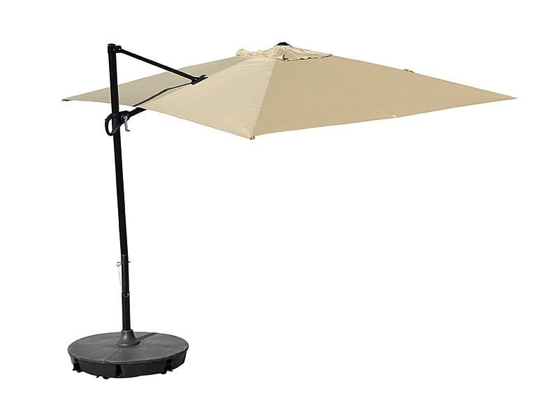 Parasol exc ntrico de acero con toldo de 300 x 300 cm - Sombrillas terraza leroy merlin ...