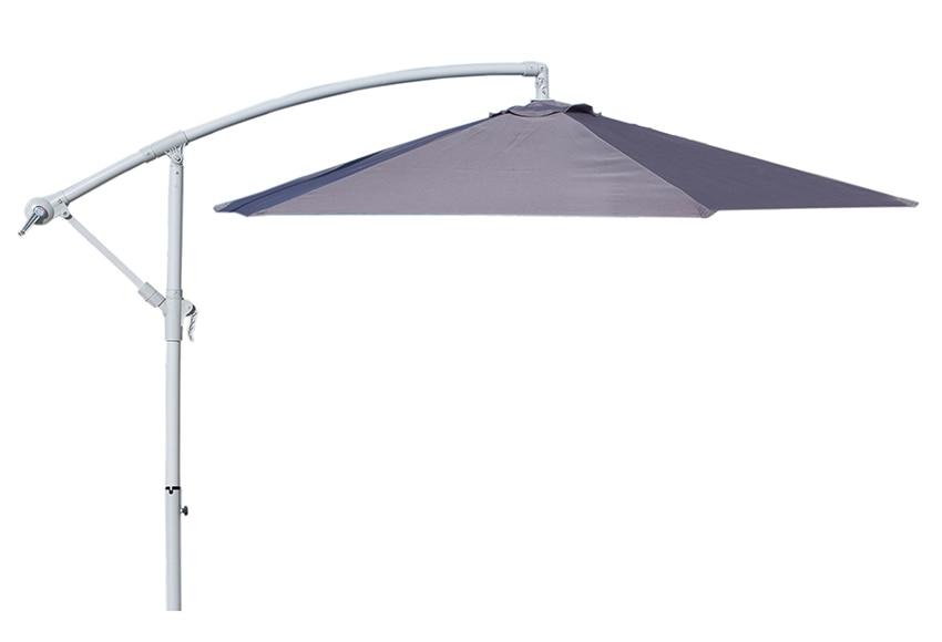 Parasol exc ntrico de acero con toldo de 270 cm for Parasol deporte rectangulaire leroy merlin