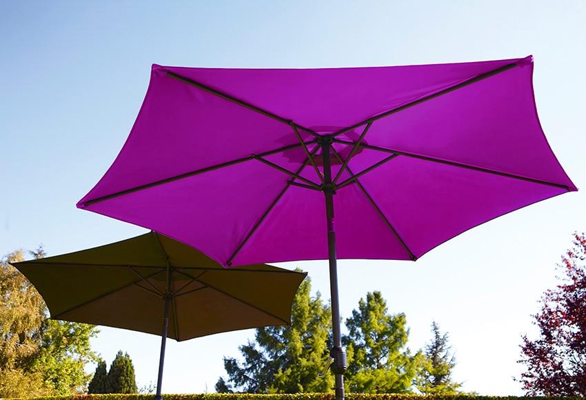 Parasol de acero con toldo de 270 cm atl ntico morado ref for Parasol deporte rectangulaire leroy merlin