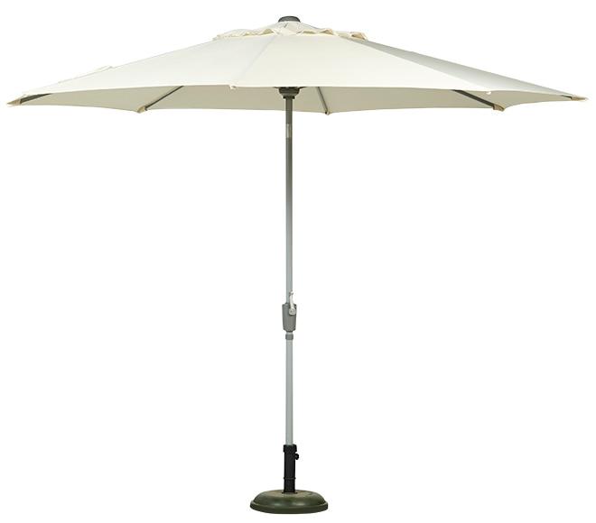 Parasol de aluminio con toldo de 300 cm helios crudo ref for Parasol deporte rectangulaire leroy merlin