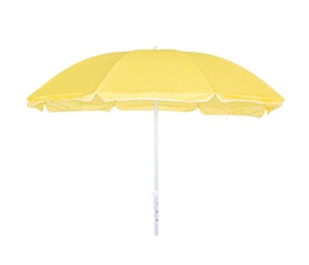 Parasol de acero con toldo de 180 cm playa amarillo ref for Parasol deporte rectangulaire leroy merlin
