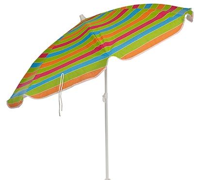 Parasol de acero con toldo de 180 cm napa playa ref - Sombrillas leroy merlin ...