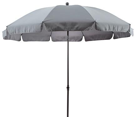 Parasol de metal con toldo de 250 cm gris ref 17430385 - Parasoles leroy merlin ...