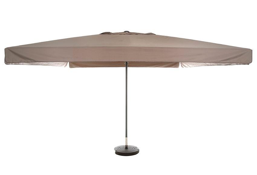 Parasol de aluminio con toldo de 400x400 cm naterial theia - Parasoles leroy merlin ...