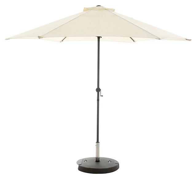 Parasol de aluminio con toldo de 300 cm naterial koeos - Parasoles leroy merlin ...