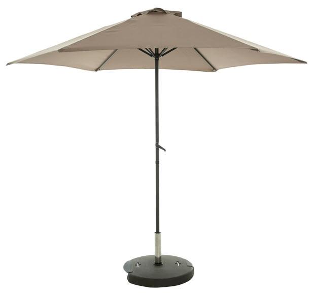 Parasol de metal con toldo de 275 cm tostado ref 19206971 - Parasoles leroy merlin ...