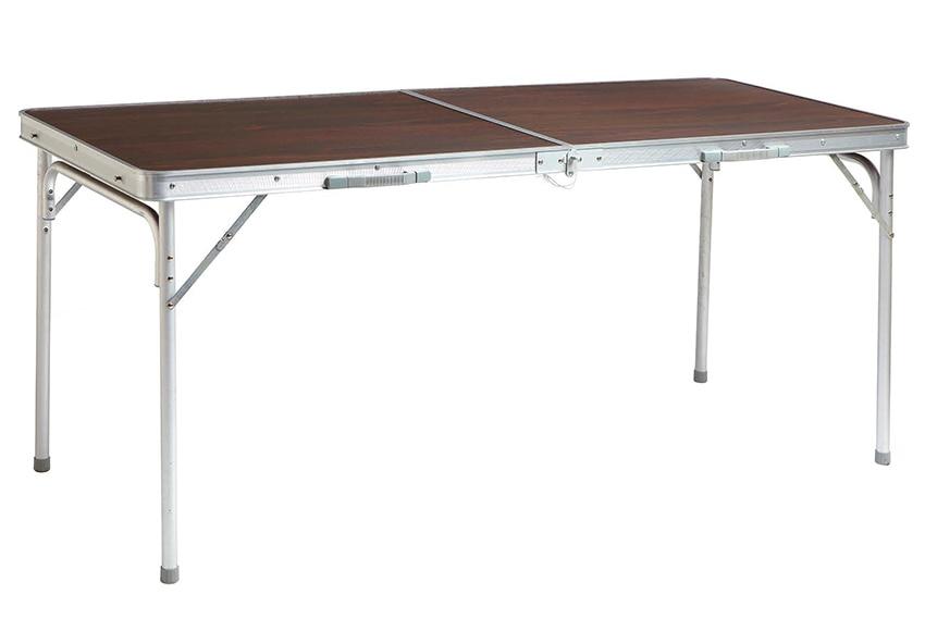 mesa de aluminio y madera camping g ref 16568944 leroy