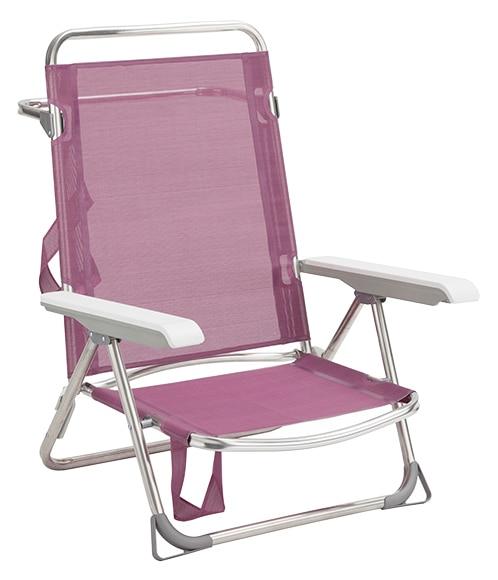 Silla de aluminio y textileno playa ref 17435726 leroy - Silla playa aluminio ...