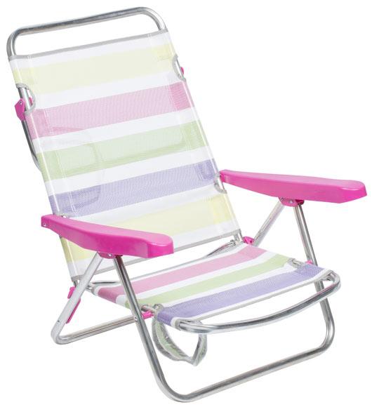 silla de playa multicolor ref 18039805 leroy merlin