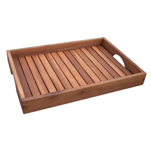 Bandeja de madera de acacia con asas acacia ref 15301713 for Bandejas de madera