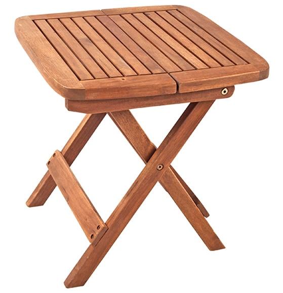 Mesa de madera de acacia acacia patricia ref 15958313 - Mesa auxiliar leroy merlin ...