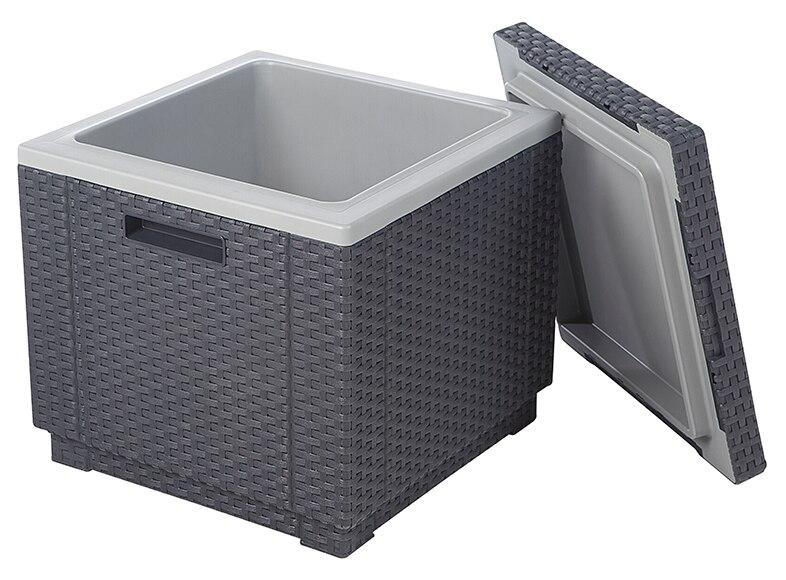 nevera de resina ice cube antracita ref 16260566 leroy