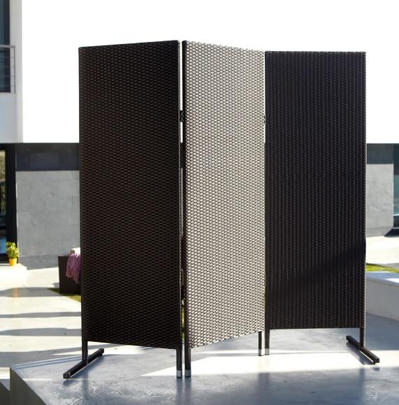 Biombo de aluminio y rat n sint tico naterial jamaica ref - Biombos para jardin ...