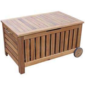 Banco de madera acacia filipinas ref 17810541 leroy merlin - Baul plastico jardin ...
