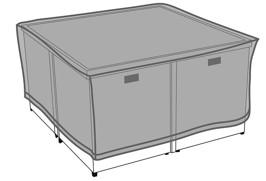 Funda protectora para mesa y sillas de rafia kubic ref for Fundas para sillas comedor leroy merlin