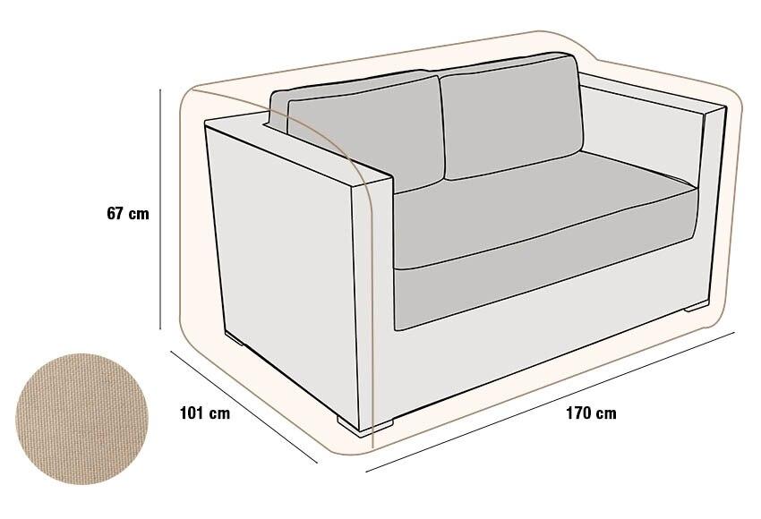 Funda protectora para el sof 2 plazas ref 17437700 - Fundas sofa leroy merlin ...