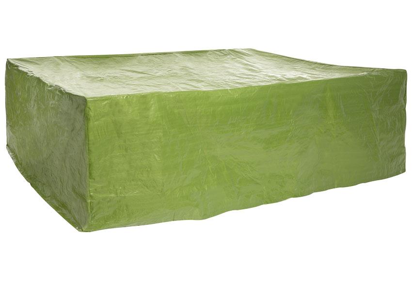 Funda para mesas y sillas rafia verde ref 17564505 for Fundas para sillas de jardin