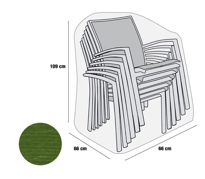 Funda para pila de sillas rafia verde ref 17564526 for Fundas para sillas comedor leroy merlin