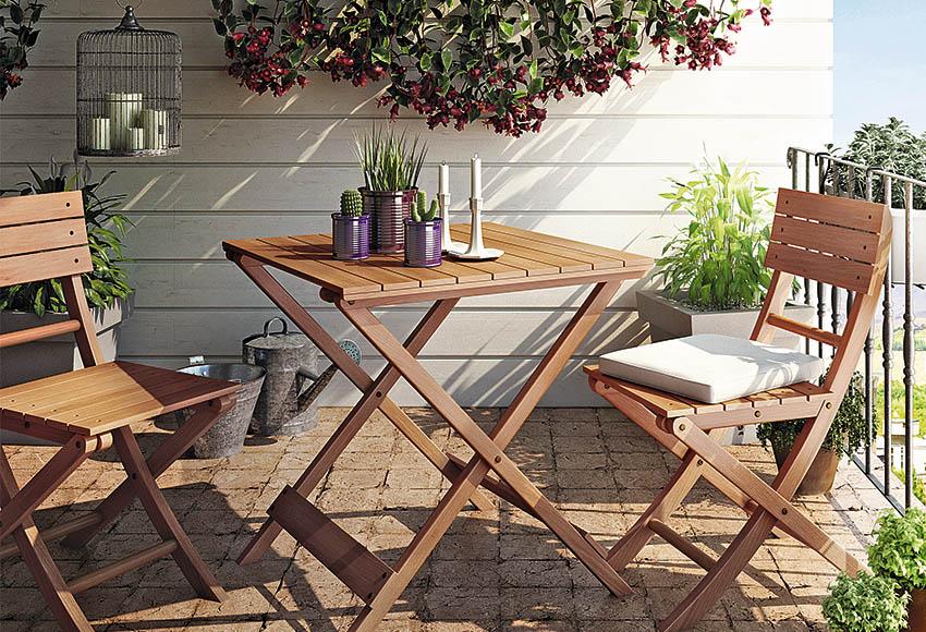 Set de madera de acacia remo ref 12792864 leroy merlin - Cerramientos de terrazas leroy merlin ...