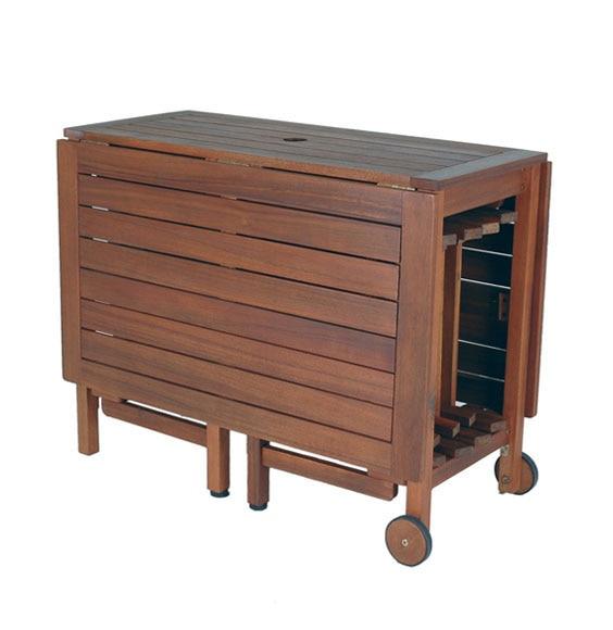 Set de madera de acacia oviedo ref 14024472 leroy merlin - Mesa cocina plegable leroy merlin ...