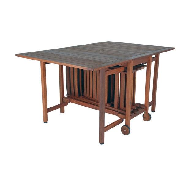 Set de madera de acacia oviedo ref 14024472 leroy merlin - Mesas jardin leroy merlin ...