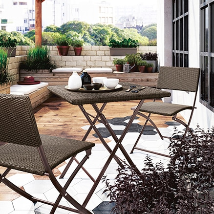 Conjuntos de muebles para balc n leroy merlin for Muebles de balcon