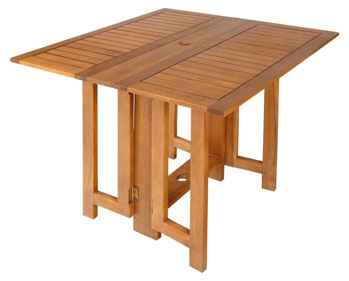 Conjunto de madera de acacia soria ref 010113 16627303 - Mesa plegable con sillas dentro ikea ...