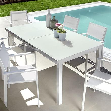 Mesas de jardin de piedra piedra serrada para mesa en - Fuentes para jardin leroy merlin ...