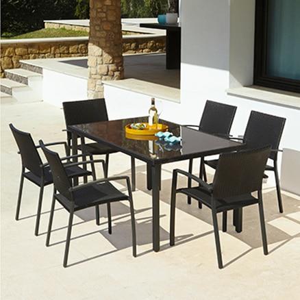 Conjuntos de muebles para comer leroy merlin for Conjuntos de terraza