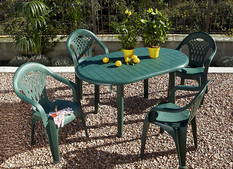Conjunto de resina costa canc n verde ref 010114 for Outlet muebles cancun